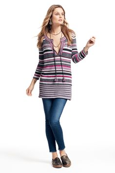 Striped sweater tunic