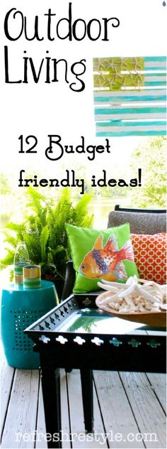 Outdoor living #budget #outdoorliving #diyprojects