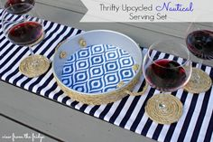 Upcycled Nautical Serving Set - View From The Fridge