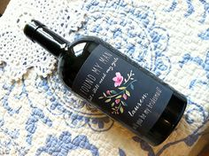 A custom wine label may just be the perfect way to ask your friend to be a bridesmaid! #EtsyCustom