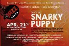 Snarky Puppy performs in Augusta, Georgia. April 21. Julian Smith Casino. $10-15 #jazzlives