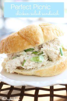 Chicken Salad, Chicken Salad Sandwich, Chicken Recipes, Picnic Recipe Ideas,