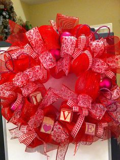 Valentine Mesh Wreath