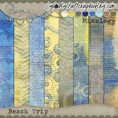 Beach Trip Grungy by JB Studio