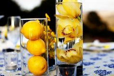 2013 Pantone Color | Lemon Zest - Centerpieces  #weddings #lemonzest #centerpieces  #tablescapes