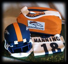 Denver Broncos and Peyton Manning Cake