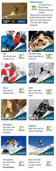 Black Friday Deals!  http://www.activejunky.com/thefix/best-2012-black-friday-outdoor-gear-deals