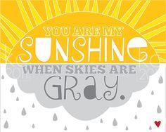 Sunshine Print.  $7.95 via Kiki Comin on Etsy.