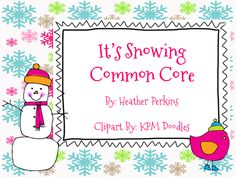 It's Snowing Common Core product from Second-Grade-Perks on TeachersNotebook.com