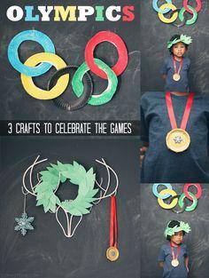 Winter Olympics: 3 Crafts to Celebrate the Games via @Sheena Tatum (Sophistishe.com)