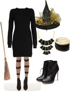 Work Appropriate Witch Costume ~ I have one client where most staff dress up for Halloween and they have a grand party in the afternoon...great group!
