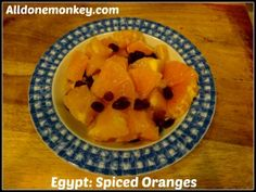 Egypt: Spiced Oranges {Around the World in 12 Dishes} Great recipe for date cakes, too. Good cooking project #culturalpotluck