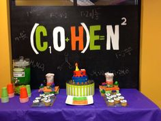 Cool dessert table at a Science boy birthday party!  See more party ideas at CatchMyParty.com!