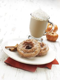 Oh sweet day... Pumpkin Spice Doughnuts and Lattes.