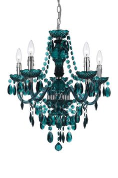 angelo:HOME Fulton 5 Light Chandelier - Green