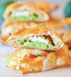 Avocado, Cream Cheese, and Salsa-Stuffed Puff Pastries    [RECIPE]
