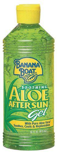 Banana Boat Aloe Vera Sun Burn Relief Gel, 16-Ounce Bottles (Pack of 3)