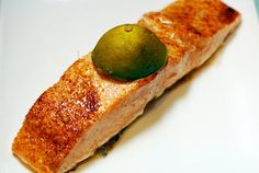 Chipotle Lime Salmon print 1 lb salmon, cut into 4 fillets 1-2 tablespoons olive oil 2 limes, sliced in half 1 teaspoon celtic sea salt 1 teaspoon chipotle powder