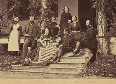 Scene in Pleasant Valley, Maryland; Staff of Union General George McClellen, circa 1862