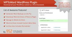 Deals WPToWord | Wordpress to Word Doc PluginWe provide you all shopping site and all informations in our go to store link. You will see low prices on