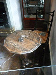 The table, in the Dining Room, at which Jane Austen sat when she was writing at Chawton