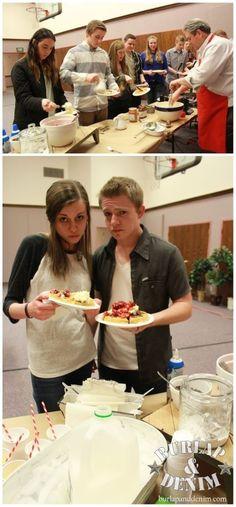 Youth Group Waffle Bar Date NightBurlap & Denim