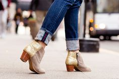 DIY these glitter booties with this step by step tutorial.