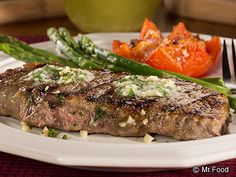 Double Melt Away Steak - This easy steak dinner recipe comes with our own secret method for making homemade herbed butter! Pair this restaurant-style dinner with some asparagus and green beans for a fancy night in.