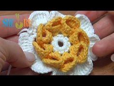 Folded Petal Crochet Flower Tutorial