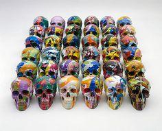 postmodern art skulls