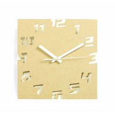 Wooden Creative Eco-friendly Hollow Numeral Wall Clock