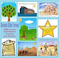 Genesis Bible Verse Printables