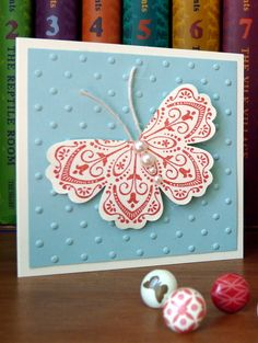 Mixed Bunch butterfly mini card by angelfishcrafts - Cards and Paper Crafts at Splitcoaststampers