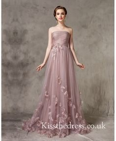 Nude Tulle Strapless