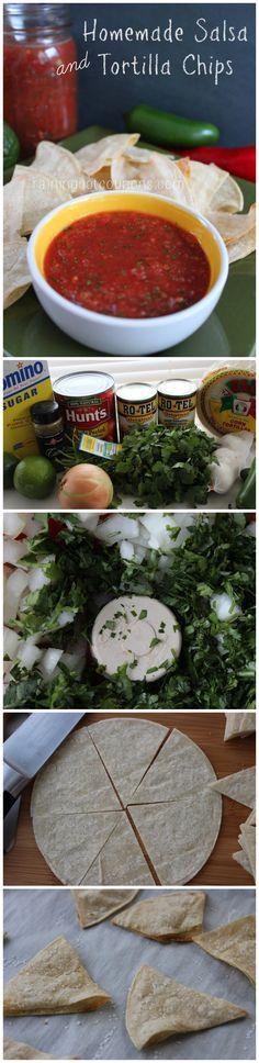 Homemade Salsa and Tortilla Chips
