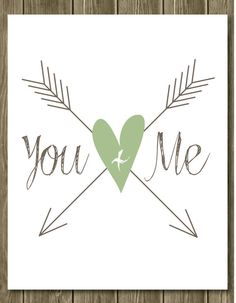 You + Me Arrow Art - Hipster Art - Typography - Wall Decor - Arrow -  8 x 10 on Etsy, $15.00