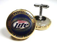 Groomsmen gift?   Beer Bottle Cap Cuff Links by AristoCrafty on Etsy, $10.00
