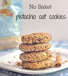 No Bake Pistachio Oat Cookies - making them #glutenfree by using certified #gfree oats