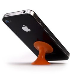 Barnacle by ilovehandles: Nifty little suction cup to stand your iPhone on your desk or to mount on your windshield or other slick surface. Available in a variety of colors.