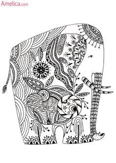 Раскраска из арт терапии