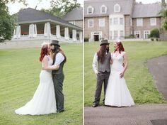 groom hair, hair colors, bride hair, the bride, unicorn bride, hat