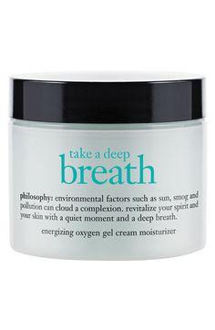 philosophy 'take a deep breath' energizing oxygen gel cream moisturizer | Nordstrom