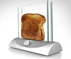 transparent glass toaster