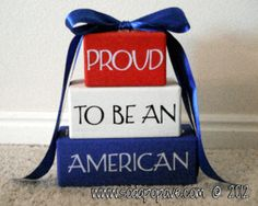 Check out this great Fourth of July decoration! You can make the words say anything you like. Full tutorial on how to make it at www.SodaPopAve.com