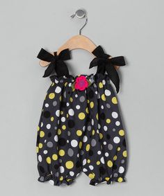 Take a look at this Gray Polka Dot Bubble Romper - Infant by Victoria Kids on #zulily today!
