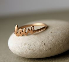 Love Ring Womens Jewelry 8k Solid Rose Gold