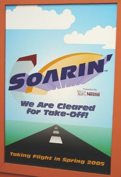 New Ride for 2005, Epcot's Soarin' poster
