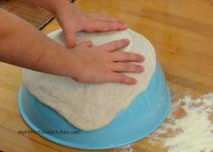 pizza dough on bowl