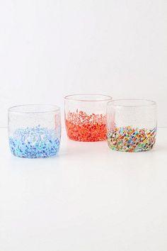 Settled Confetti Glass  Anthropologie