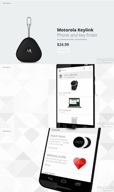 Motorola Keylink is a Bluetooth-enabled device that helps you track down your lost keys, phone, or almost anything else you attach it to.